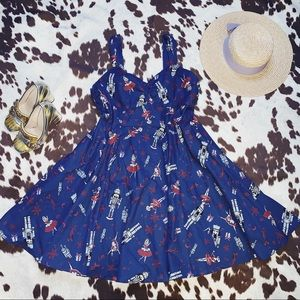 ModCloth Heartfelt Invitation Nutcracker Dress XL